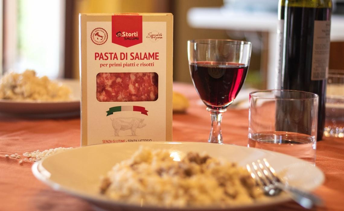 Pasta di salame per primi piatti e risotti